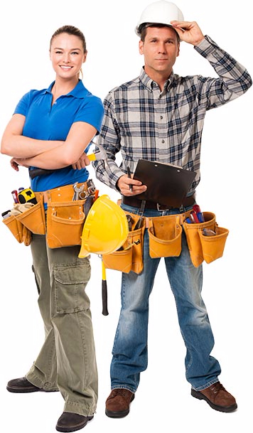 female and male contractors